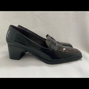 Cole Han Patent Chunky Heel Loafer